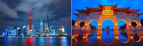Shanghai, China and Taipei, Taiwan