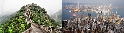 Beijing, China and Hong Kong