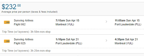 Last Minute Montreal To Fort Lauderdale Florida 232 To 253 Cad Roundtrip Including Taxes Non Stop Flights