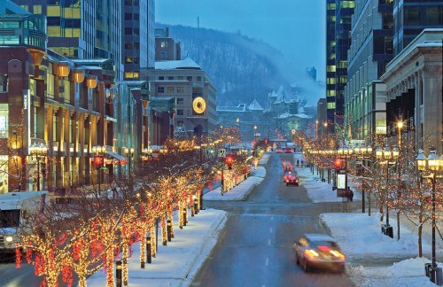Montreal at Christmas time