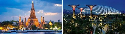 Bangkok, Thailand and Singapore